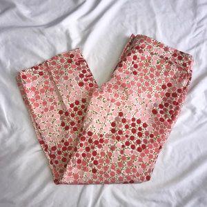 Odille Anthropologie Floral Cotton Capris